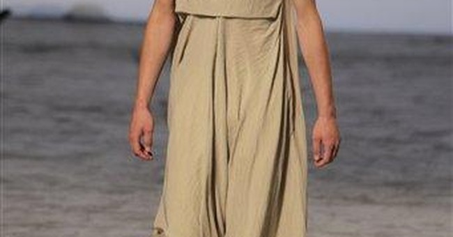 Men in skirts, shiny silks at Paris menswear shows