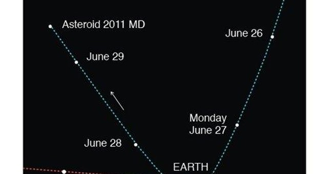 Small asteroid swings harmlessly past Earth