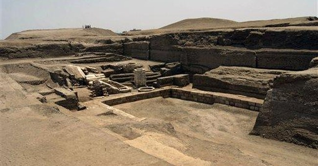 Egypt: Large inscribed limestone blocks unearthed