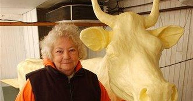 Norma Lyon, Iowa fair's 'butter cow lady,' dies