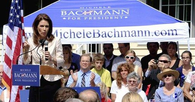 Day 2 of Bachmann's 2012 tour goes to the dogs