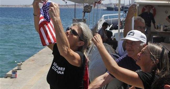 Irish boat drops out of flotilla, cites sabotage