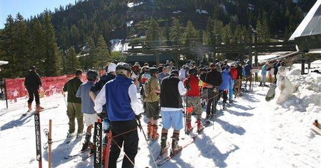 West weather turns July 4 into skier's paradise