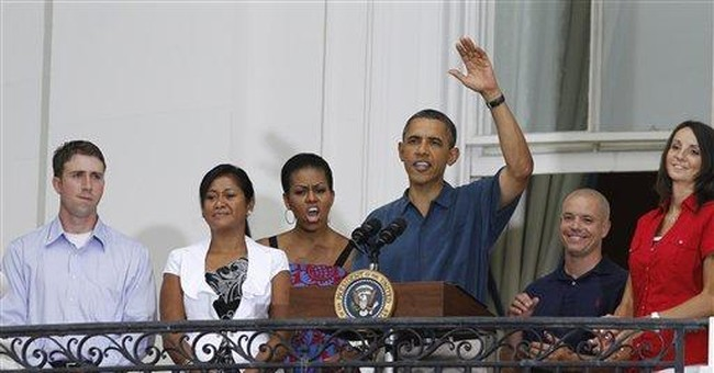 Obama thanks troops at July 4 party on South Lawn