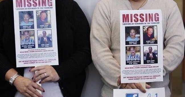 Families of missing US fishermen hold out hope