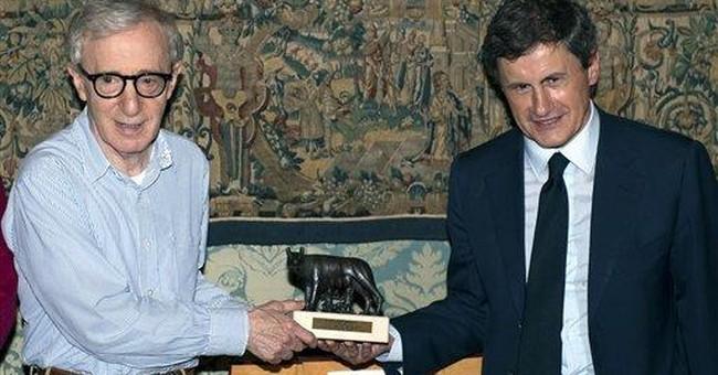 Woody Allen meets with Rome mayor