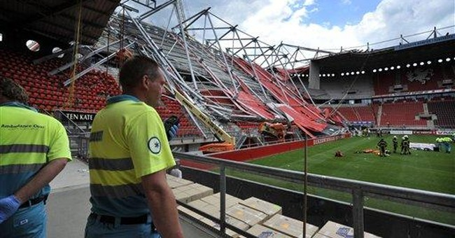 2nd worker dies after Dutch stadium roof collapse