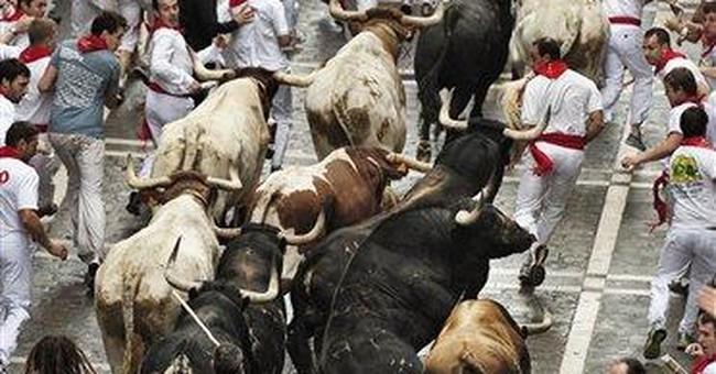 Clean start to Pamplona's running of the bulls