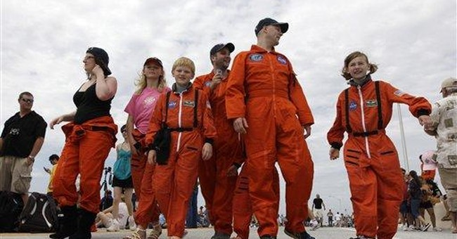 Tailgate party to remember for last shuttle launch