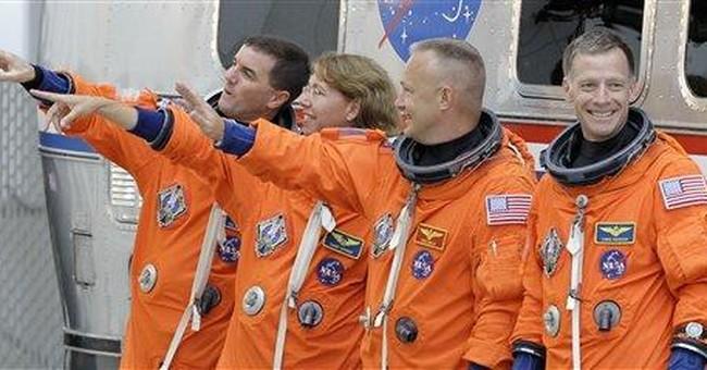 Shuttle program's final 4 astronauts riding high