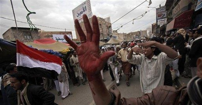 Rights group: Yemen civilians killed in crossfire