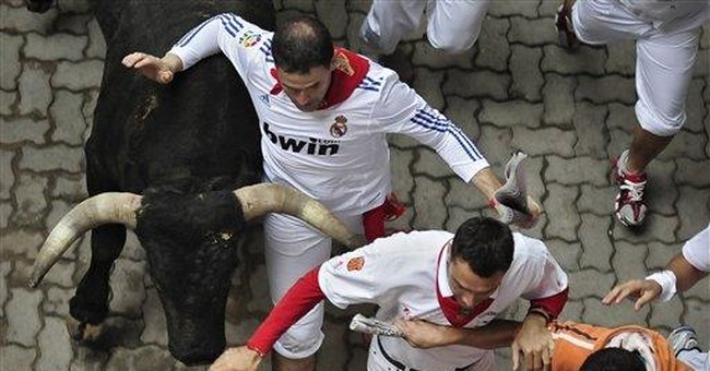10 hurt, no gorings: Spain's running of the bulls