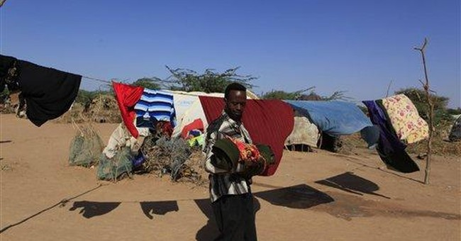 Frail child of Somali drought fights to live