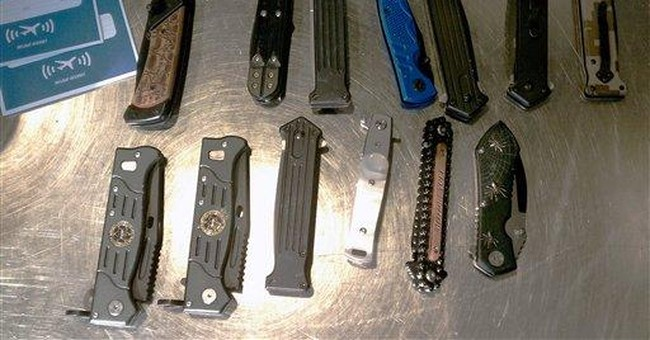 TSA finds 13 knives in carry-on at DC-area airport