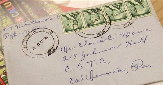 Long-lost love letter finally finds recipient