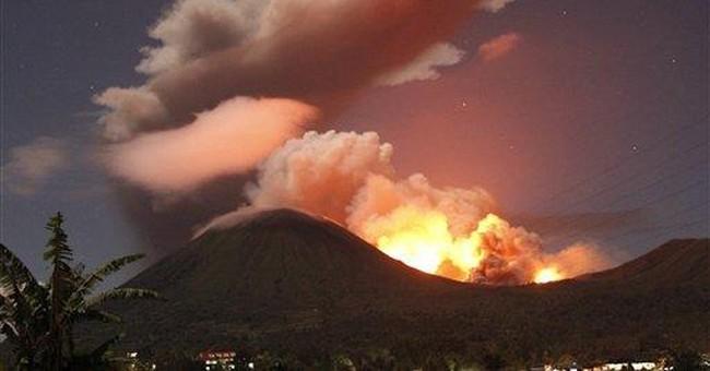 Indonesia volcano spews ash in biggest eruption
