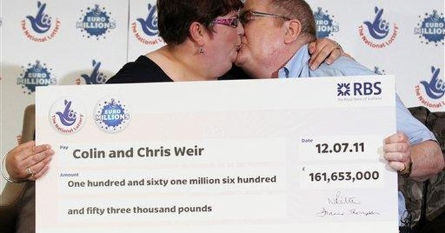 Scots couple claims Europe's biggest lotto jackpot