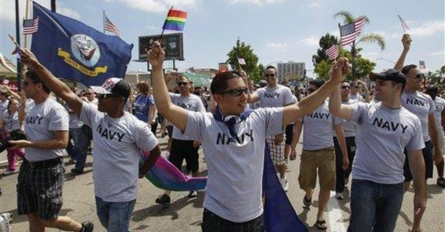 Troops march in San Diego's gay pride parade