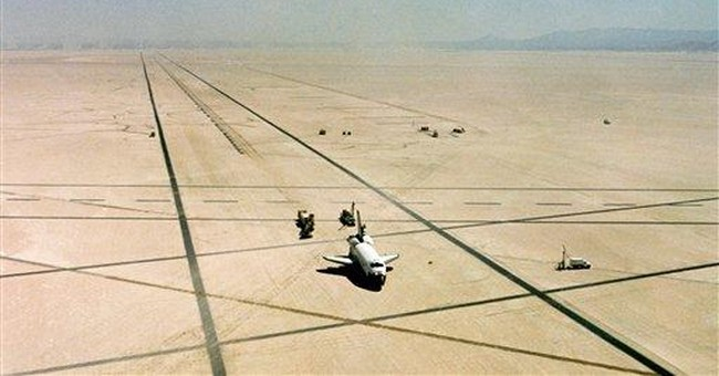 Party atmosphere reigned in early shuttle landings