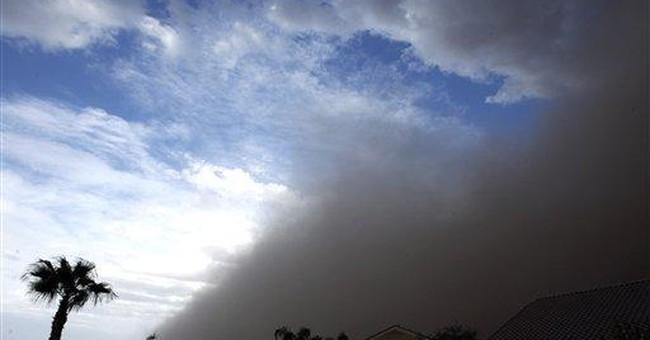 Giant dust storm moves through Phoenix area