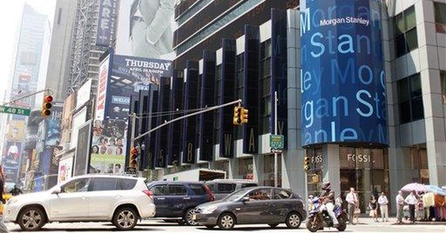 Morgan Stanley's trading revenue up; stock soars
