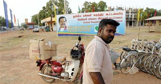 Sri Lankan gov't appeals for minority Tamil votes