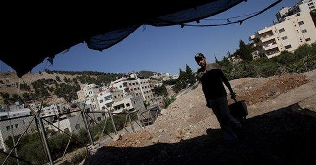 In Palestinian city, diggers uncover biblical ruin