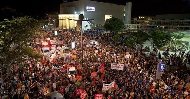 Thousands of Israelis protest high housing prices