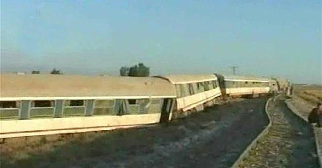 Passenger train derails in Syria; 1 killed