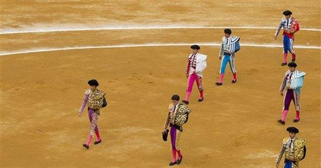 Famed Spanish matador butted to ground in comeback