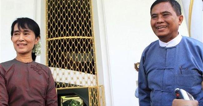 Myanmar's Suu Kyi meets senior gov't official
