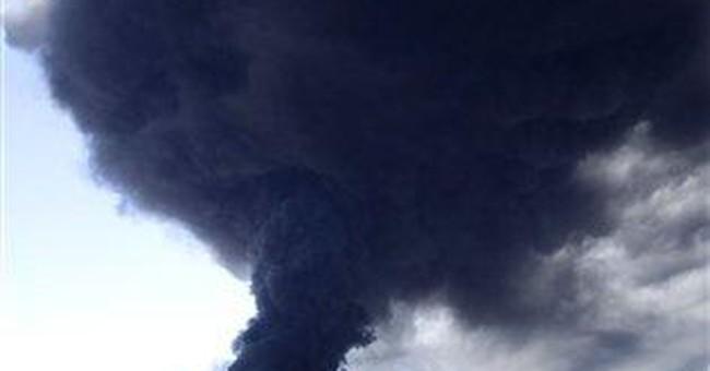 Fire erupts at Northern Calif. plastics plant