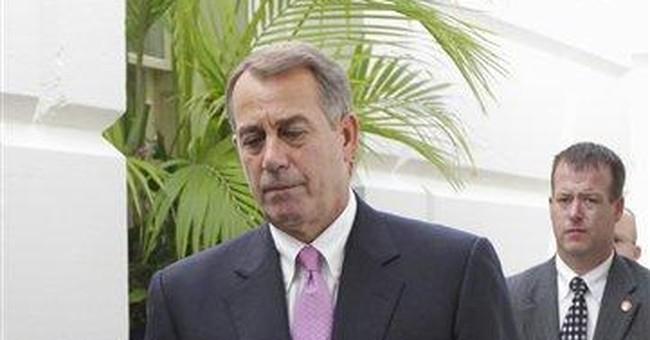 Boehner's big bid on debt undone from right, left