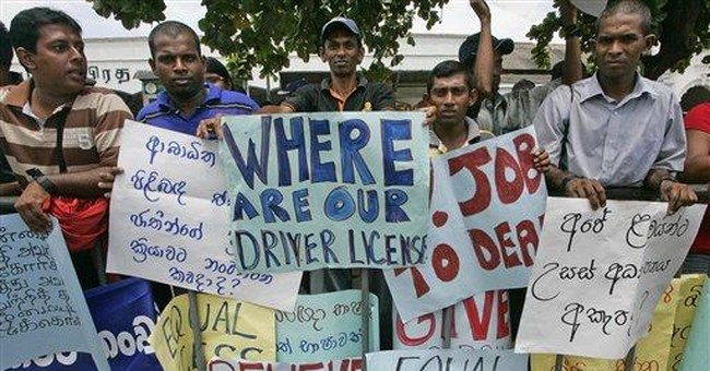 Sri Lanka's deaf march for equal rights, jobs