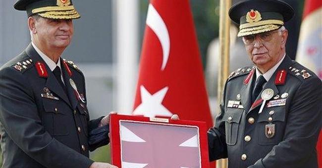 Turkish military's chiefs of staff step down