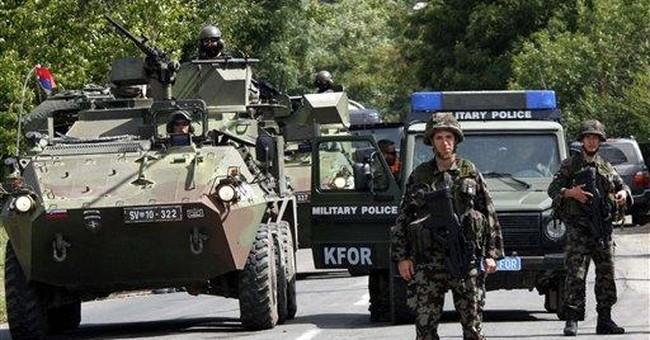 NATO in north Kosovo withdraws from Serb roadblock