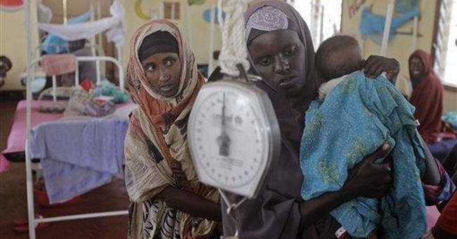 Nurse struggles to save starving Somali children