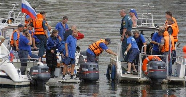 9 killed when boat hits barge on Moscow River