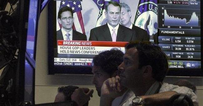 Economic woes override debt drama for investors