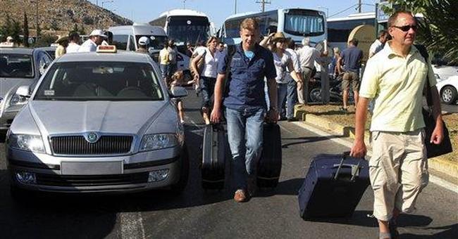 Striking Greek cabbies step up blockades