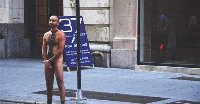 Naked performance art on Wall St. ends in arrests