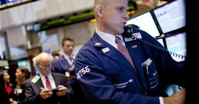 Dow edges higher, breaking an 8-day losing streak