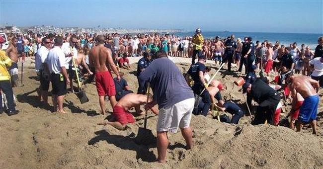 Teen buried on Calif. beach thought he would die