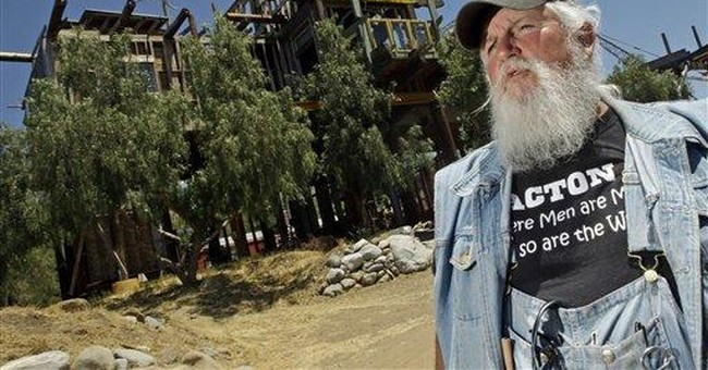 California's Phonehenge West begins to come down