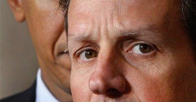 Geithner says he will stay at Treasury
