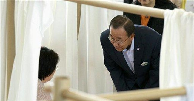 UN chief visits Japan disaster zone