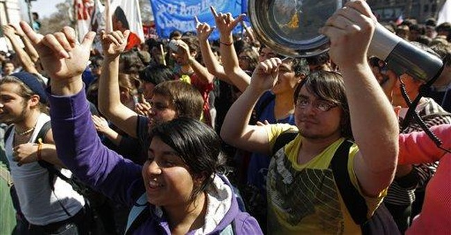 Violent protests for education reform in Chile
