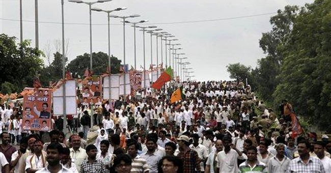 Police use water, batons to control India protest