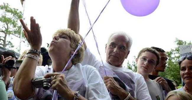 Caylee Anthony's grandparents, crowd mark birthday