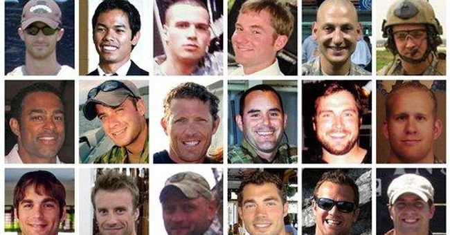 Portraits of Navy SEALs killed in helicopter crash